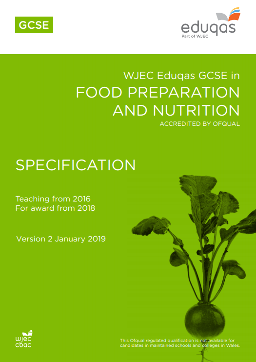 GCSE Food Preparation and Nutrition Specification