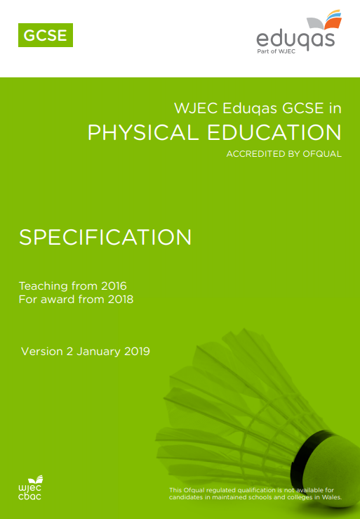 GCSE Physical Education Specification (Full Course)