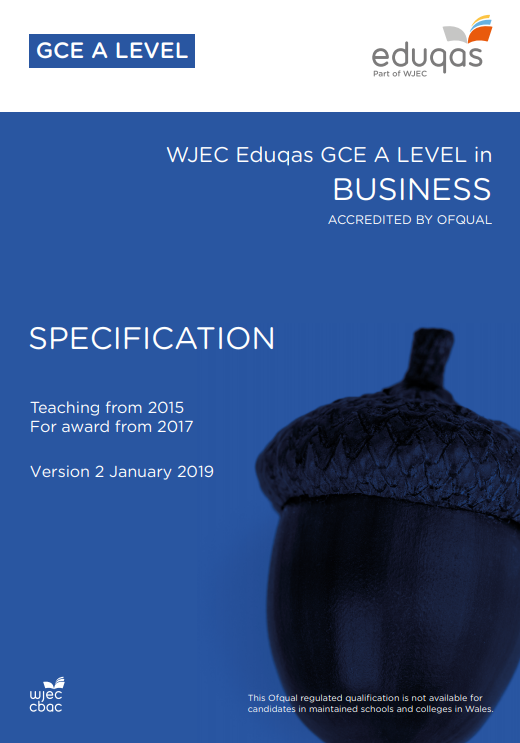 A Level Business Specification