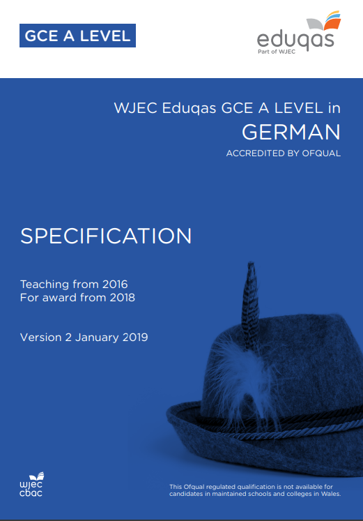 A Level German Specification